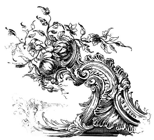 Bombastic ornament from Victorian era