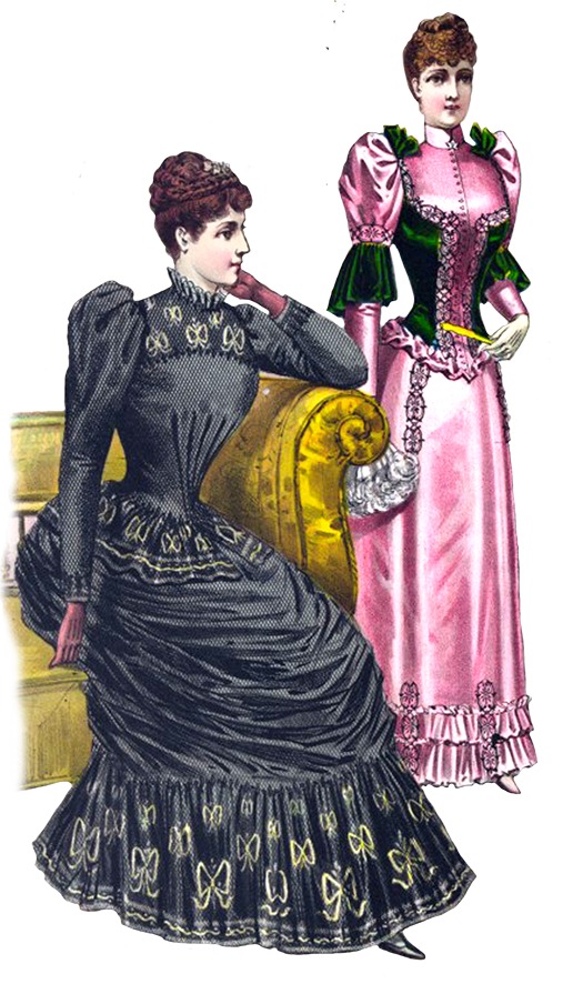 Victorian clipart of fashion