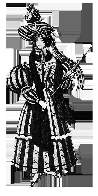 woman's Victorian dress