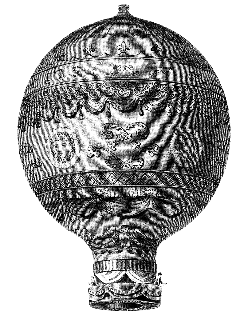 Victorian hot air balloon PNG