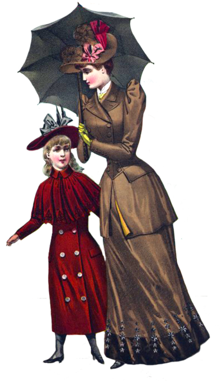 Victorian lady and young daughter