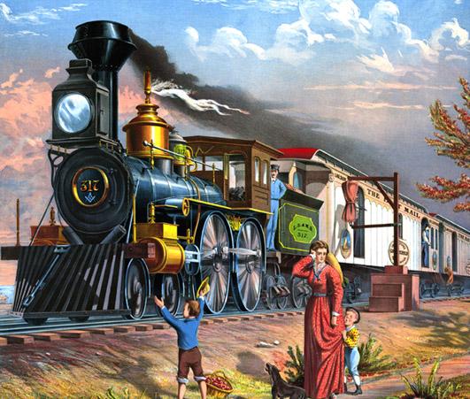 Victorian steam train