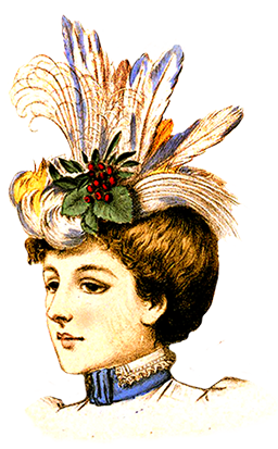 ladies dress hats clip art 1883