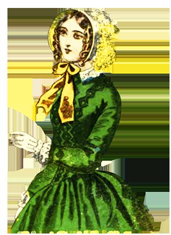 Victorian hat clipart