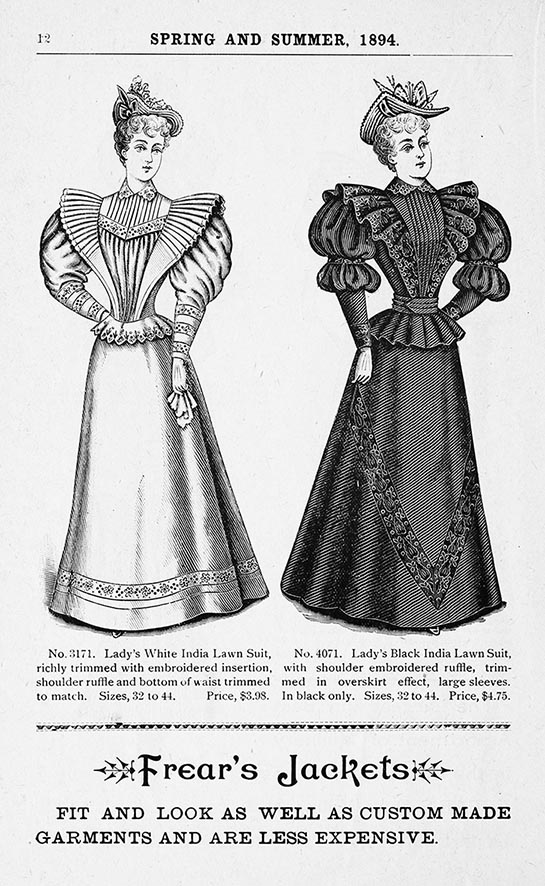 Victorian catalog women's fashion 1894