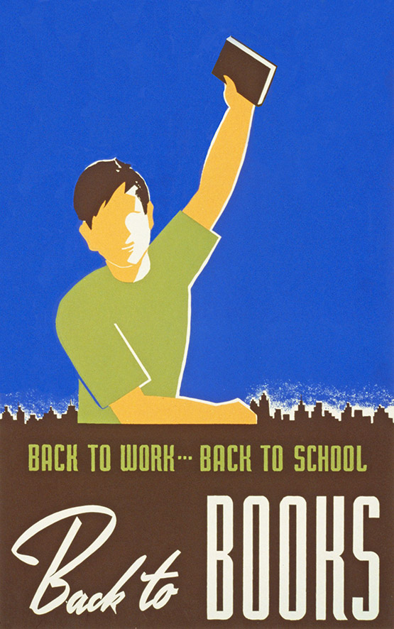 vintage back to school clipart