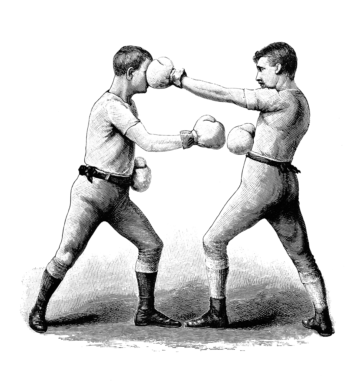 vintage boxing motive