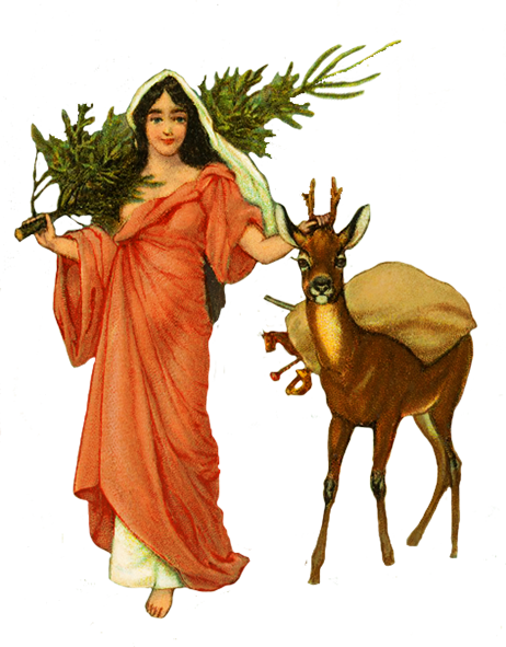 Christmas clip art Angel with deer