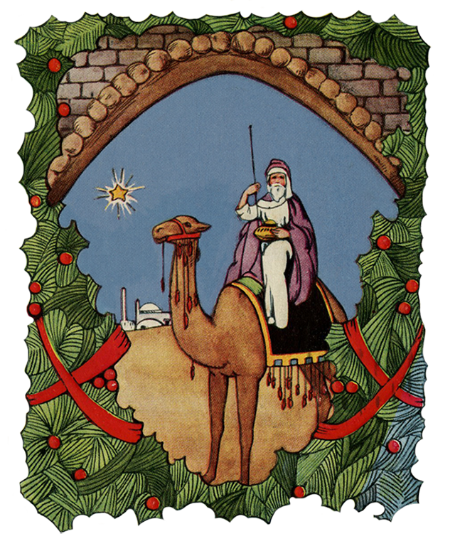 Vintage Christmas scenery
