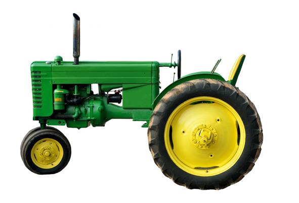 Green vintage tractor