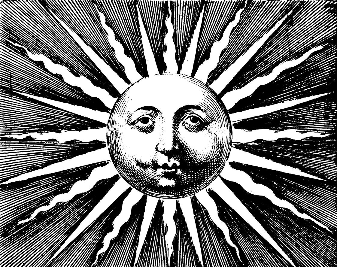 black white vintage sun picture
