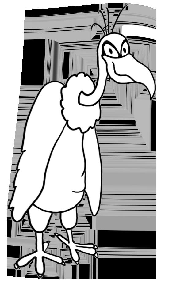 scowling vulture clip art