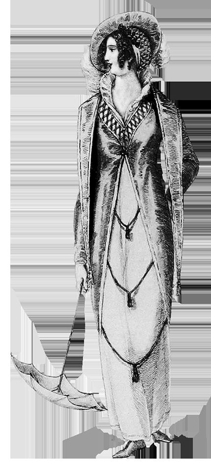 fashion woman's walking dress 1809