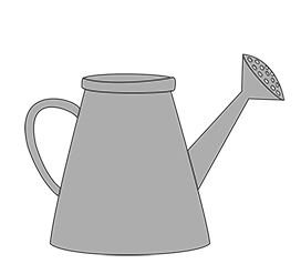 water can grey clipart