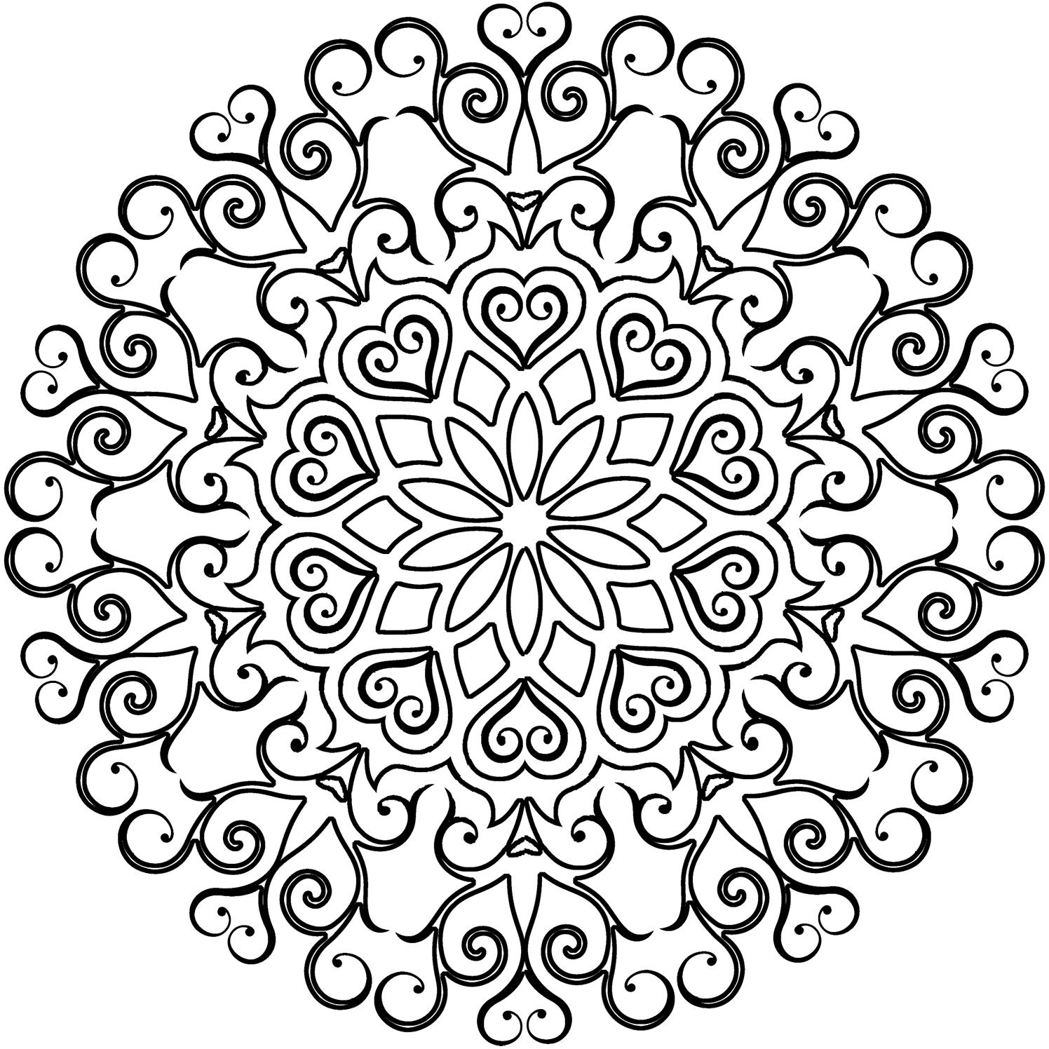 kaleidoscope-mandala-coloring page