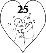 25th wedding anniversary love heart