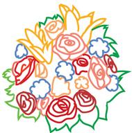 bridal bouquet sketch