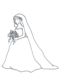 wedding clipart bride bridal bouquet