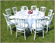 wedding table in garden