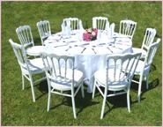 wedding table in garden