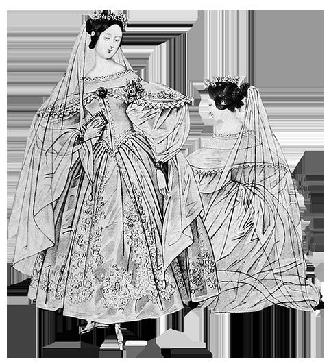 Wedding dress Victorian era