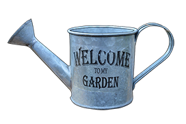 welcome to my garden water can