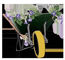 wheelbarrow clipart with snarls