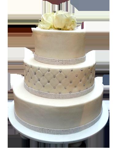 White wedding cake picture