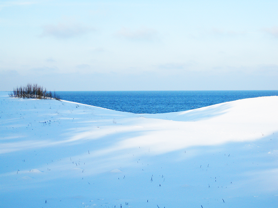 winter landscape snow sea