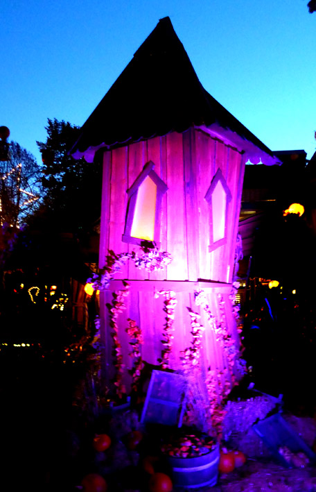 Purple witch tower for Halloween