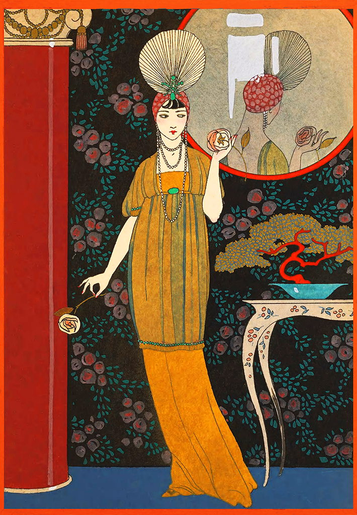 woman art deco Japanese style