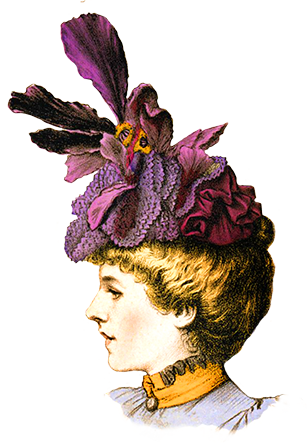 woman hat Victorian clipart