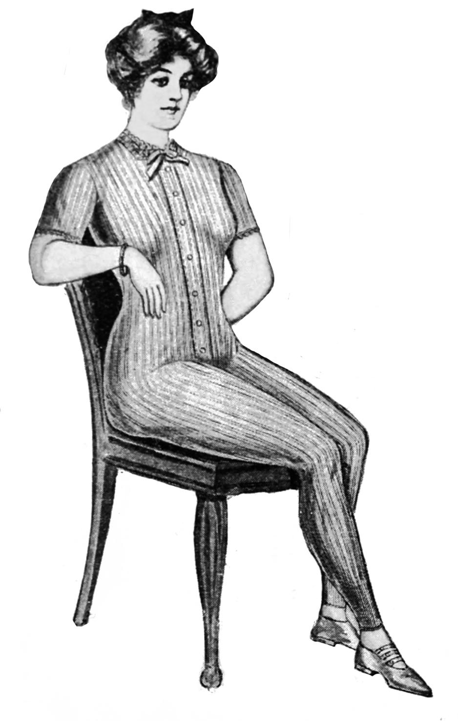 woman in Victorian underwear