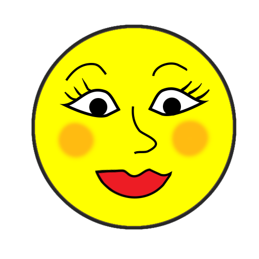 woman smiley faces clipart