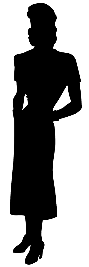 1940-ish woman silhouette