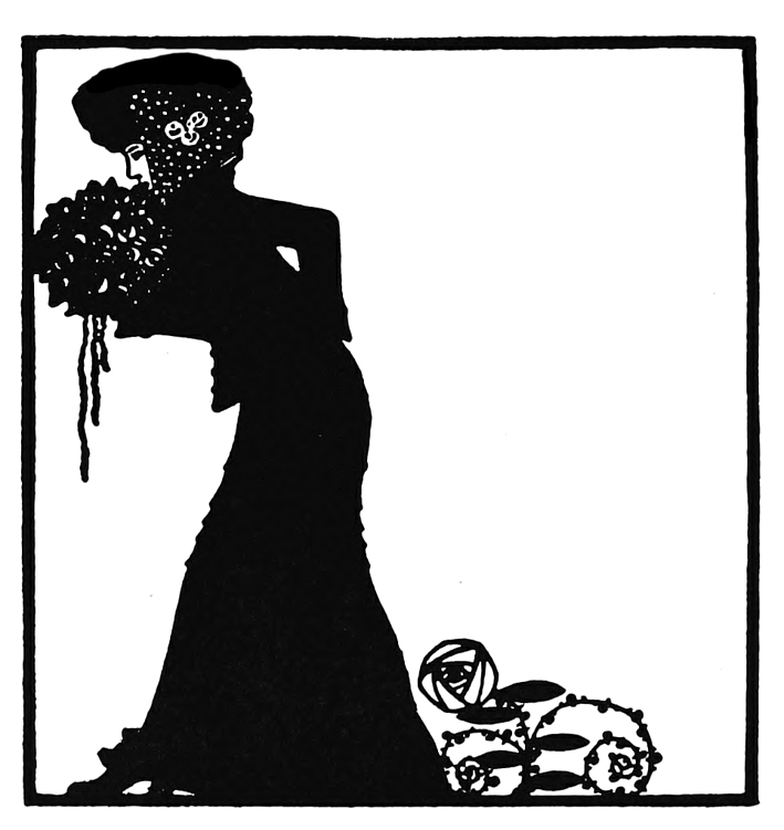Art Nouveau woman with flowers