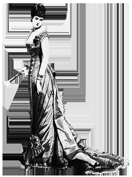 woman's newest fashion evening dress 1879