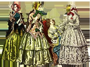 Victorian ladies dress hats clip art