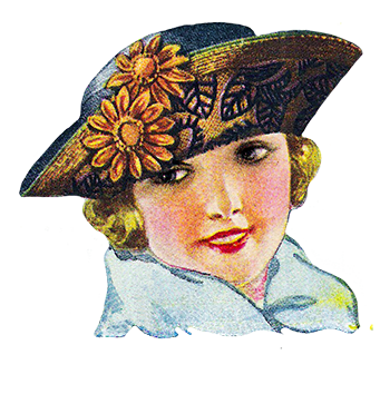 woman's hat from 1922