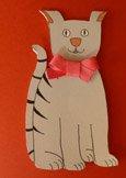 cute cat first birthday invitations
