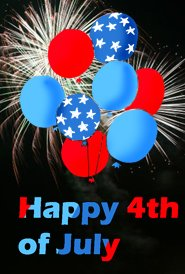 happy 4th of july balloons firework