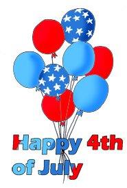 4th of july clipart balloons
