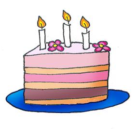birthday cake 3 candles