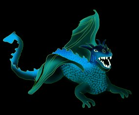 cool blue dragon