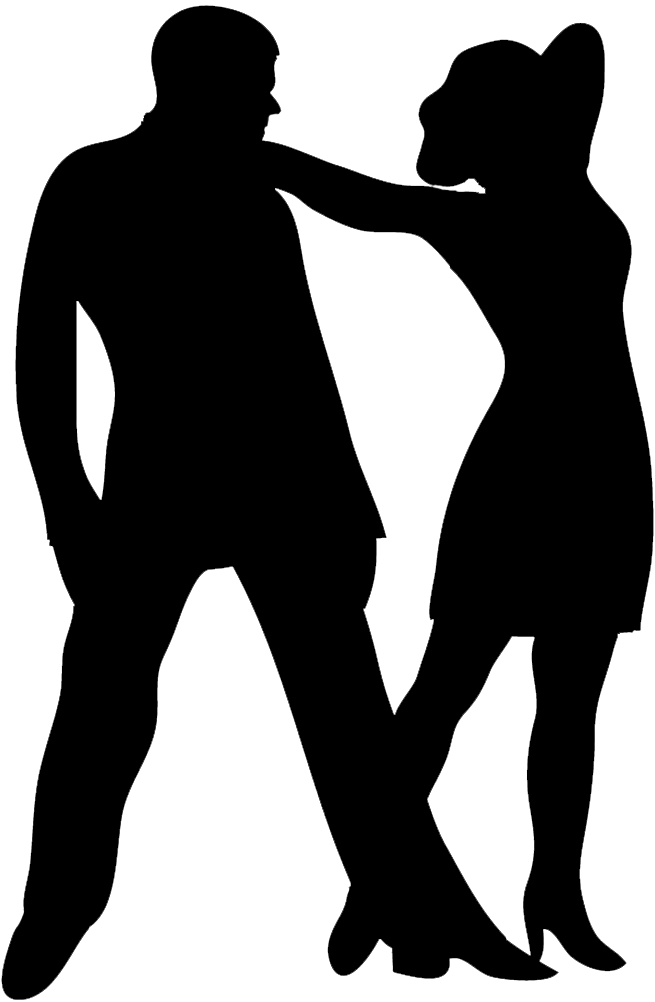 Standard dance silhouette dancers