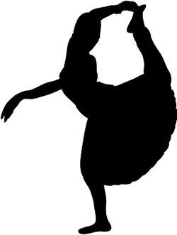 silhouette bharata natyam dancer