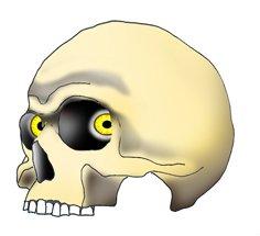 evil skull drawings eyes