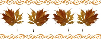 autumn clipart border brown leaves