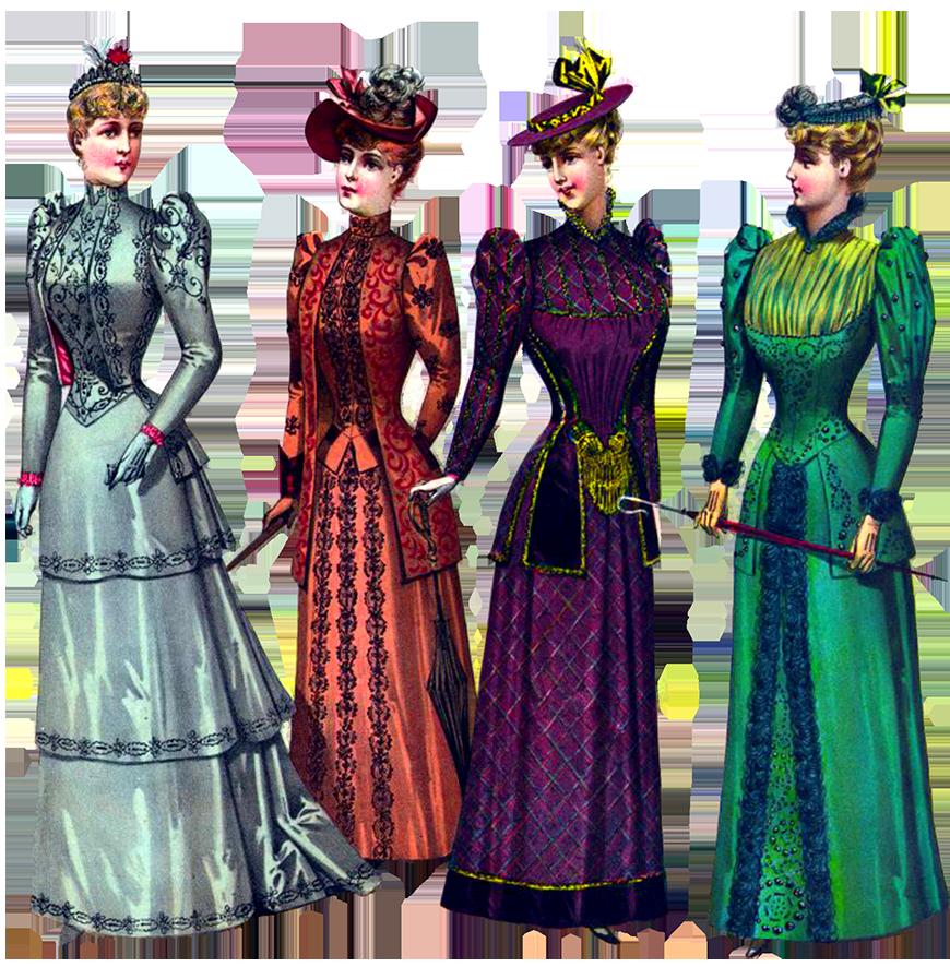Beautiful ladies Victorian style