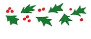 holly free christmas clip art border